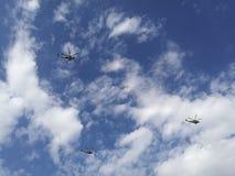 Céu e helicópteros Imagens de Stock