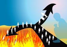 Céu e inferno Imagem de Stock