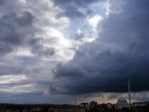 Céu e imagens horríveis da tempestade e da nuvem Imagem de Stock Royalty Free