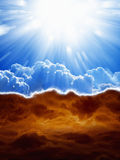 Céu e inferno Imagem de Stock Royalty Free