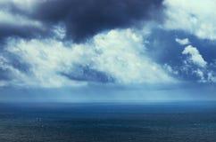 Céu e mar Fotografia de Stock