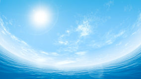 Céu e mar Imagem de Stock Royalty Free