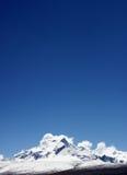 céu e montanha da neve Fotos de Stock