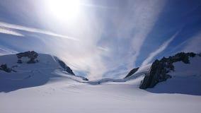 Céu e neve Imagem de Stock