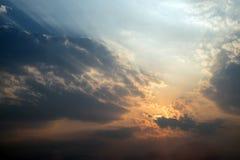 Céu e nuvem abstratos Fotos de Stock