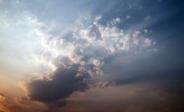 Céu e nuvem abstratos Imagens de Stock