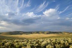 Céu e nuvens de Interresting Foto de Stock