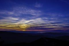 Céu e nuvens no por do sol Imagens de Stock Royalty Free