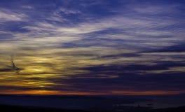 Céu e nuvens no por do sol Foto de Stock Royalty Free
