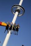 Céu e passeios de emoção na feira do estado de Texas fotos de stock royalty free