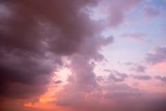 Céu e por do sol Imagens de Stock Royalty Free