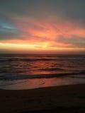 Céu e por do sol do oceano Fotografia de Stock