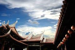 Céu e telhado Foto de Stock Royalty Free