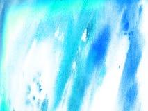 Céu e turquesa da aquarela da textura com handwork ilustração royalty free