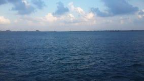 Céu Egito da praia do mar de Alexandria Imagens de Stock