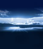 Céu em branco com planetas Foto de Stock Royalty Free