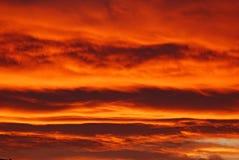 Céu em chamas! imagens de stock royalty free