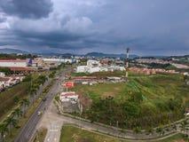 Céu em tempestades de Colômbia foto de stock
