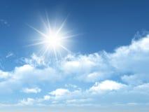 Céu ensolarado imagem de stock