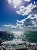 Céu ensolarado foto de stock