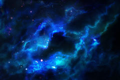Céu estrelado azul Foto de Stock Royalty Free