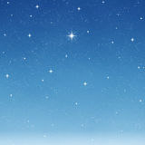 Céu estrelado de desejo brilhante   ilustração do vetor