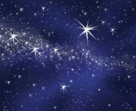 Céu estrelado do fundo Foto de Stock Royalty Free