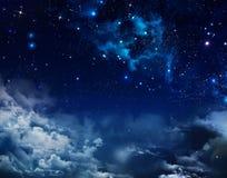 Céu estrelado do fundo abstrato fotos de stock royalty free
