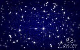 Céu estrelado do sumário da constelação do câncer Foto de Stock Royalty Free