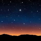 Céu estrelado na noite Imagens de Stock