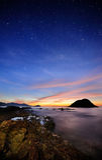 Céu estrelando na praia Foto de Stock