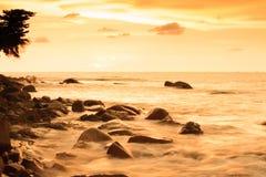 Céu fantástico do por do sol foto de stock royalty free