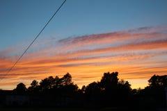Céu glorioso Fotografia de Stock
