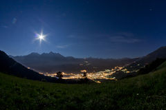 Céu largo da noite Fotografia de Stock Royalty Free