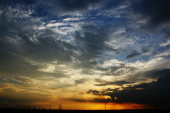 Céu louco Fotos de Stock