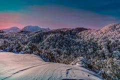 Céu mindinho em Mt Ruapehu Foto de Stock Royalty Free