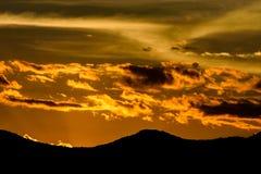 Céu na hora dourada Foto de Stock
