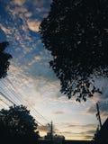 Céu na manhã imagens de stock