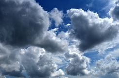 Céu nebuloso Bangladesh Foto de Stock