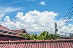 Céu nebuloso bonito Fotografia de Stock