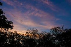Céu nebuloso crepuscular Imagem de Stock