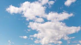 Céu nebuloso da manhã do lapso de tempo, fundo da natureza video estoque
