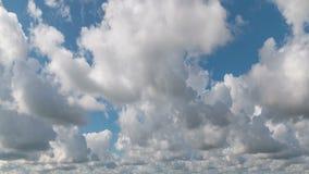 Céu nebuloso da manhã do lapso de tempo, fundo da natureza filme