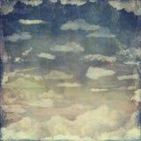 Céu do Grunge do vintage imagens de stock