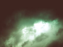 Céu nebuloso do olhar retro Fotos de Stock