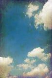 Céu nebuloso do vintage fotos de stock