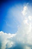 Céu nebuloso dramático Fotografia de Stock