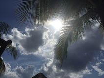 Céu nebuloso em Cozumel México Fotografia de Stock Royalty Free