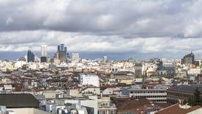 Céu nebuloso no Madri Fotografia de Stock