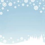 Céu nevado do inverno Imagens de Stock Royalty Free